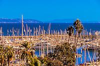 Santa Barbara Yacht Club, Santa Barbara, California USA.