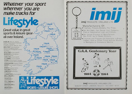 All Ireland Senior Hurling Championship - Final,.04.09.1983, 09.04.1983, 4th September 1983,.Kilkenny 2-14, Cork 2-12,.Kilkenny v Cork, .04091983AISHCF,..imij products, Ireland, Mungret Street, Limerick,