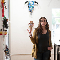 Sahara Butler of Gallup gives an artist talk at OPO Gallery, Tuesday, May 28 during 2nd Look on 2nd Street.