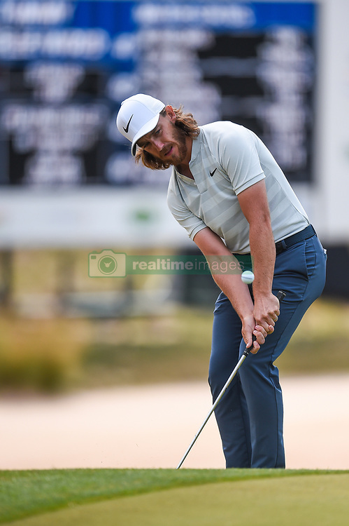 March 22, 2018 - Austin, Texas, U.S. - TOMMY FLEETWOOD chips during the Second Round of the WGC-Dell Technologies Match Play on March 22, 2018 at Austin Country Club. (Credit Image: © Daniel Dunn/Icon SMI via ZUMA Press)