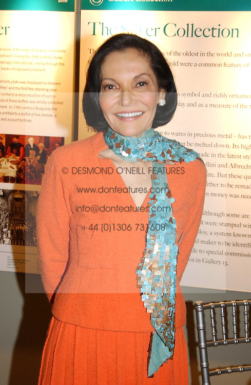 JUDITH PRICE President of the National Jewellery Institute in the USA at a reception to view the newly opened exhibition 'Masterpieces of American Jewellery' at The Gilbert Collection, Somerset House, London on 14th February 2005.<br /><br />NON EXCLUSIVE - WORLD RIGHTS