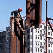 High steel worker, Boston, MA