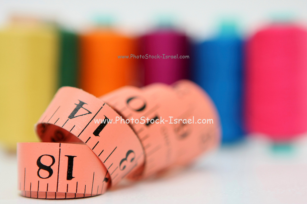 Sewing kit thread and measuring tape