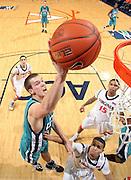 Virginia beat UNC Wilmington 69-67 Monday Jan. 18, 2010 in Charlottesville, Va. UNC Wilmington's Matt Wilson (Photo/The Daily Progress/Andrew Shurtleff)