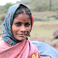 Dhangar woman, Sahaydri, India. Dhangars are the nomads of India. they grow Goats & Lambs for the wool and milk & meat!