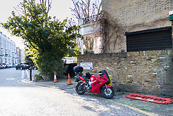 SWNS - A small piece of land in Lexham Gardens, Kensington, which is reported to have been sold to a developer. The land has a one car garage constructed on it and has room to park another two cars.