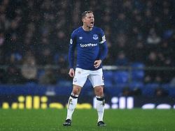 Everton's Phil Jagielka reacts