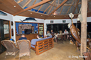 dining and recreation room at Ika Lahi Fishing Lodge, Hunga Island, Vava'u, Kingdom of Tonga, South Pacific