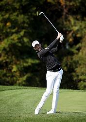 Oct 19, 2018-Jeju, South Korea-DANNY WILLETT of England action on the 15th hall during the PGA Golf CJ Cup Nine Bridges Round 2 at Nine Bridges Golf Club in Jeju, South Korea.