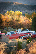 Vintage cars on the scenic Byway 12, Utah, United States of America