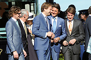 Koninginnedag 2012 in de Utrechtse gemeente Rhenen.// Queensday 2012 in the city of Rhenen.<br /> <br /> Op de foto: Prins Constantijn ,  Prins Bernhard en Prins Pieter-Christiaan en Prins Floris