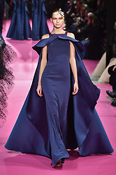 January 22, 2019 - Paris, FRANCE - Alexis Mabille.. Model On Catwalk, Paris Haute Couture Fashion Week 2019 HC Ready To Wear For Spring Summer, Defile, Fashion Show Runway Collection, Pret A Porter, Modelwear, Modeschau Laufsteg Sommer, France, .PARHS19 (Credit Image: © FashionPPS via ZUMA Wire)
