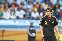 03.07.2010, CAPE TOWN, SOUTH AFRICA, im Bild .Arne Friedrich of Germany- during the Quarter Final, Match 59 of the 2010 FIFA World Cup, Argentina vs Germany held at the Cape Town Stadium.Foto ©  nph /  Kokenge