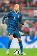 John Brooks (USA) during the international Friendly match between England and USA at Wembley Stadium, London, England on 15 November 2018.