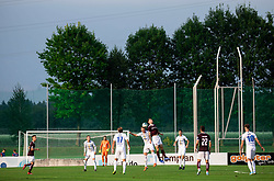 Žan Benedičič of Celje vs Tom Žurga of Triglav during football match between NK Triglav and NK Celje in 7th Round of Prva liga Telekom Slovenije 2019/20, on August 25, 2019 in Sports park, Kranj, Slovenia. Photo by Vid Ponikvar / Sportida
