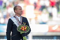 Michael Jung and Fischerrocana FST won silver in Eventing - Alltech FEI World Equestrian Games™ 2014 - Normandy, France.<br /> © Hippo Foto Team - Jon Stroud<br /> 31-08-14