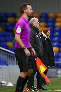 AFC Wimbledon manager Glyn Hodges watching the game during the EFL Sky Bet League 1 match between AFC Wimbledon and Bristol Rovers at Plough Lane, London, United Kingdom on 5 December 2020.