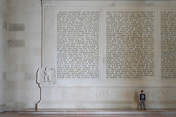 A view of the interior of the Lincoln Memorial in Washington DC in the United States. From a series of travel photos in the United States. Photo date: Thursday, March 29, 2018. Photo credit should read: Richard Gray/EMPICS