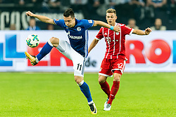(L-R) Yevhen Konoplyanka of FC Schalke 04, Joshua Kimmich of FC Bayern Munich during the Bundesliga match between Schalke 04 and Bayern Munich on September 19, 2017 at the VELTINS-Arena in Gelsenkirchen, Germany