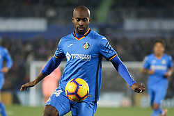 January 6, 2019 - Getafe, Madrid, Spain - Player of Getafe in action during the spanish league, La Liga, football match between Getafe and Barcelona on January 06, 2019 at Coliseum Alfonso Perez in Getafe, Madrid, Spain. (Credit Image: © AFP7 via ZUMA Wire)