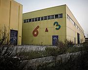 Capannoni del centro commerciale Aiazzone recentemente abbandonato per via della profonda crisi che sta attraversano il paese. Bari, 15 marzo 2014. Christian Mantuano / OneShot