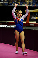 Amy Tinkler of Great Britain (GBR) during the iPro Sport World Cup of Gymnastics 2017 at the O2 Arena, London, United Kingdom on 8 April 2017. Photo by Martin Cole.