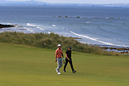 Andrea Pavan (ITA) and Lee Slattery (ENG) on the 4th during Round 4 of the Aberdeen Standard Investments Scottish Open 2019 at The Renaissance Club, North Berwick, Scotland on Sunday 14th July 2019.<br /> Picture:  Thos Caffrey / Golffile<br /> <br /> All photos usage must carry mandatory copyright credit (© Golffile | Thos Caffrey)