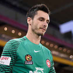 BRISBANE, AUSTRALIA - JANUARY 28: Vedran Janjetovic of the Wanderers walks out during the round 17 Hyundai A-League match between the Brisbane Roar and Western Sydney Wanderers at Suncorp Stadium on January 28, 2017 in Brisbane, Australia. (Photo by Patrick Kearney/Brisbane Roar)