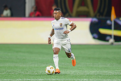 September 22, 2018 - Atlanta, GA, U.S. - ATLANTA, GA Ð SEPTEMBER 22:  Real Salt Lake's Joao Plata (10) moves the ball up the field during the match between Atlanta United and Real Salt Lake on September 22nd, 2018 at Mercedes-Benz Stadium in Atlanta, GA.  Atlanta United FC defeated Real Salt Lake by a score of 2 to 0.  (Photo by Rich von Biberstein/Icon Sportswire) (Credit Image: © Rich Von Biberstein/Icon SMI via ZUMA Press)