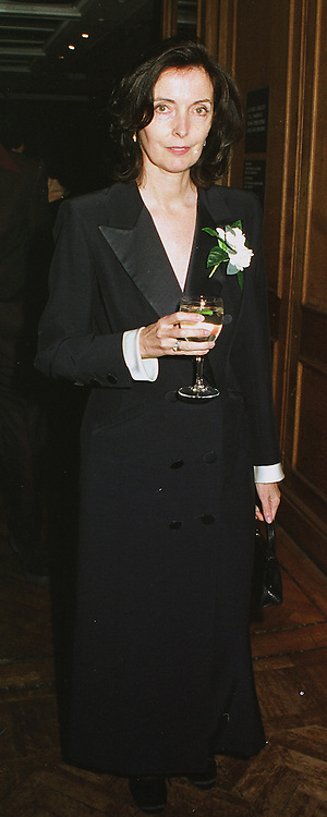 Fashion designer CATHERINE WALKER at a party in London on 22nd February 1999.MON 48