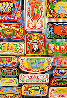colorful signs for sale in the San Telmo district of Buenos Aires, Argentina