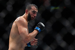 March 16, 2019 - London, United Kingdom - Dominick Reyes beats Volkan Oezdemir by decision during UFC Fight Night 147 at the London O2 Arena, Greenwich on Saturday 16th March 2019. (Credit Image: © Mi News/NurPhoto via ZUMA Press)
