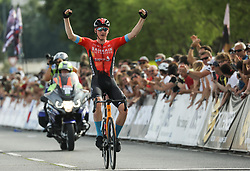 Winner Matej Mohoric of Bahrain Victorious celebrates during Slovenian National Road Cycling Championships 2021, on June 20, 2021 in Koper / Capodistria, Slovenia. Photo by Vid Ponikvar / Sportida