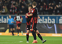Fotball<br /> Tyskland<br /> 30.11.2014<br /> Foto: Witters/Digitalsport<br /> NORWAY ONLY<br /> <br /> 1:0 Jubel v.l. Bastian Oczipka, Marco Russ  (Frankfurt) <br /> Fussball Bundesliga, Eintracht Frankfurt - Borussia Dortmund