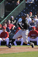 TEMPE, AZ - MARCH 4:  Juan Pierre #1 of the Chicago White Sox bats against the Los Angeles Angels on March 4, 2010 at Tempe Diablo Stadium in Tempe, Arizona. (Photo by Ron Vesely)