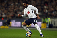 Danny Rose of Tottenham Hotspur in action. The Emirates FA Cup, 4th round replay match, Tottenham Hotspur v Newport County at Wembley Stadium in London on Wednesday 7th February 2018.<br /> pic by Steffan Bowen, Andrew Orchard sports photography.
