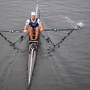 Robbie Manson  , New Zealand elite  Mens Single Scull  pre-race row <br /> <br /> Racing the Finals at FISA World Rowing Cup III on Sunday 14 July 2019 at the Willem Alexander Baan,  Zevenhuizen, Rotterdam, Netherlands. © Copyright photo Steve McArthur / www.photosport.nz