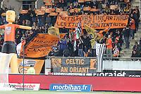 Supporters Lorient - Hommage aux sportifs decedes - 14.03.2015 - Lorient / Caen - 29eme journee de Ligue 1<br /> Photo : Vincent Michel / Icon Sport