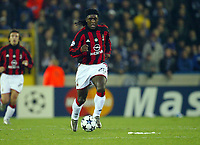 Fotball, 4. november 2003, Champions League,, Club Brugge ( Brügge )-Milan 0-1,  Seedorf, Milan