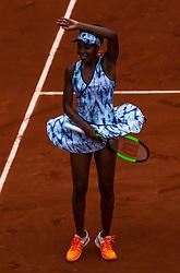 June 2, 2017 - Paris, France - Venus Williams of United States joy after defeated Elise Mertens of Belgium during the third round at Roland Garros Grand Slam Tournament - Day 6 on June 2, 2017 in Paris, France. (Credit Image: © Robert Szaniszlo/NurPhoto via ZUMA Press)