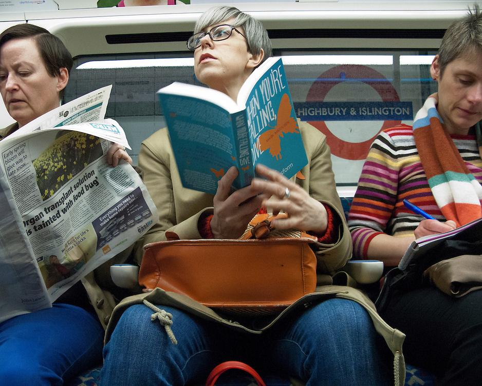 Portrait of women on the London Underground