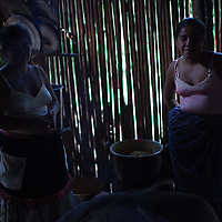 Two women in their kitchen in Concepción Actelá, Alta Verapaz