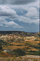 Painted Canyon Panorama. Theodore Roosevelt National Park. Composite of 1 of 9 images taken with a Nikon D3 camera and 85 mm f/2.8 PC-E lens (ISO 200, 85 mm, f/16, 1/40 sec). Raw images processed with Capture One Pro (BM-02 Teton Style). Composite generated with  AutoPano Giga Pro.