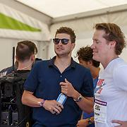 NLD/Amsterdam/20180701 - Evers staat op Run 2018, schaatser Sven Kramer en Jeroen Rietbergen