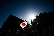 June 13-18, 2017. 24 hours of Le Mans. A Japanese flag waves during the driver's parade.