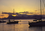 Sunset, Papeete, Tahiti, French Polynesia<br />