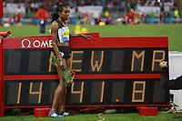 Almaz Ayana ETH Winner 5000m Women  <br /> Roma 02-06-2016 Stadio Olimpico.<br /> IAAF Diamond League 2016<br /> Atletica Legera <br /> Golden Gala Meeting - Track and Field Athletics Meeting<br /> Foto Cesare Purini / Insidefoto