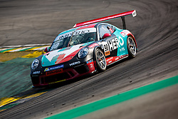 July 27, 2018 - Sao Paulo, Sao Paulo, Brazil - Car #90 in action during the free practice session for the 5th stage of the 2018 Brazilian Porsche GT3 Cup championship, which takes place on Saturday, 28 at Interlagos circuit in Sao Paulo, Brazil. (Credit Image: © Paulo Lopes via ZUMA Wire)