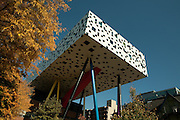 "Will Alsop's ""pencil box"" addition to the Ontario College of Art & Design's Sharp Centre for Design."