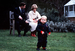 KENSINGTON PALACE: The Prince and Princess of Wales held a photocall for their son, Prince William, who will be 18 months old in a week's time.